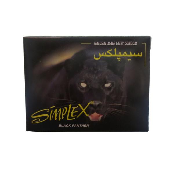 کاندوم سیمپلکس مدل Black Panther بسته سه عددی