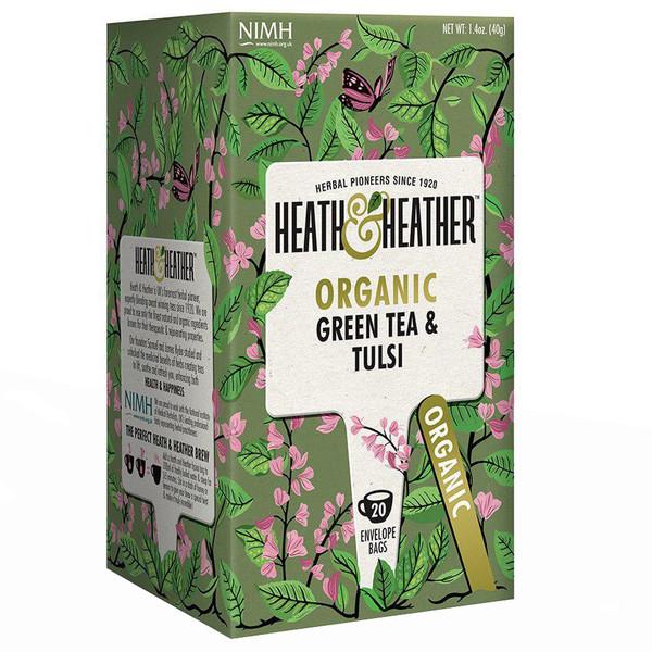 بسته دمنوش هیت و هیتر مدل Green Tea With Tulsi