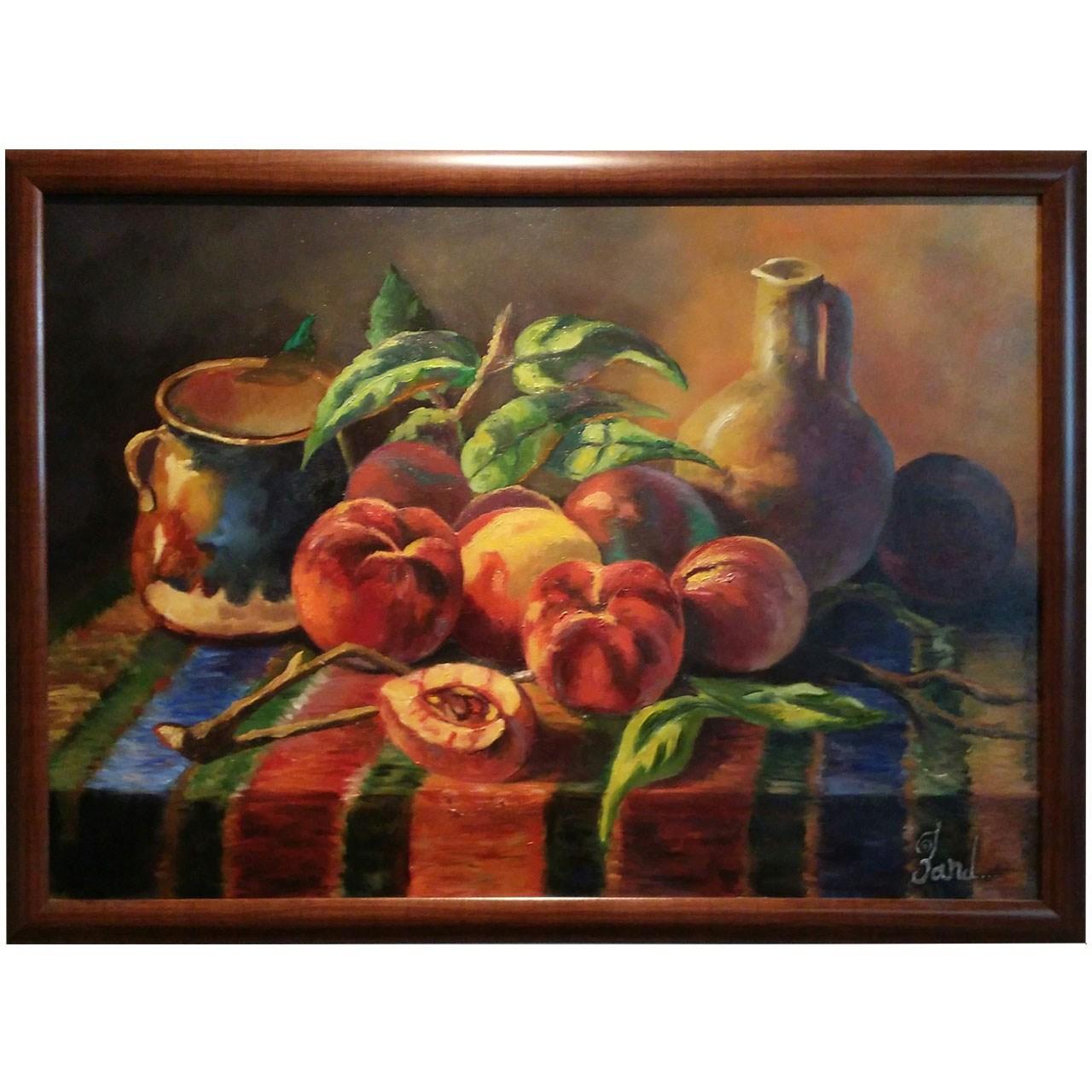 تابلو نقاشی گالری زند طرح میز روستایی
