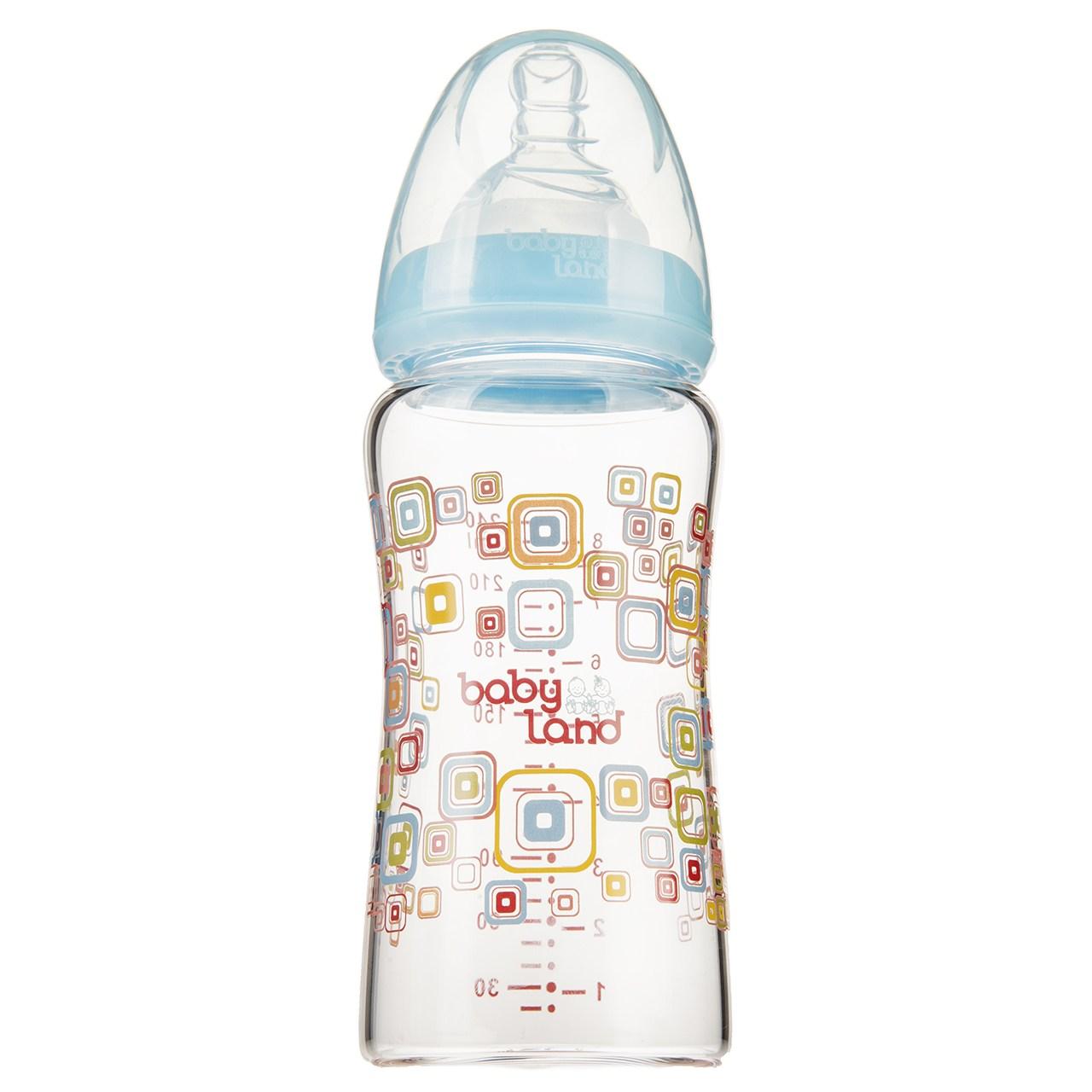 شیشه شیر بیبی لند مدل 373Square ظرفیت 240 میلی لیتر