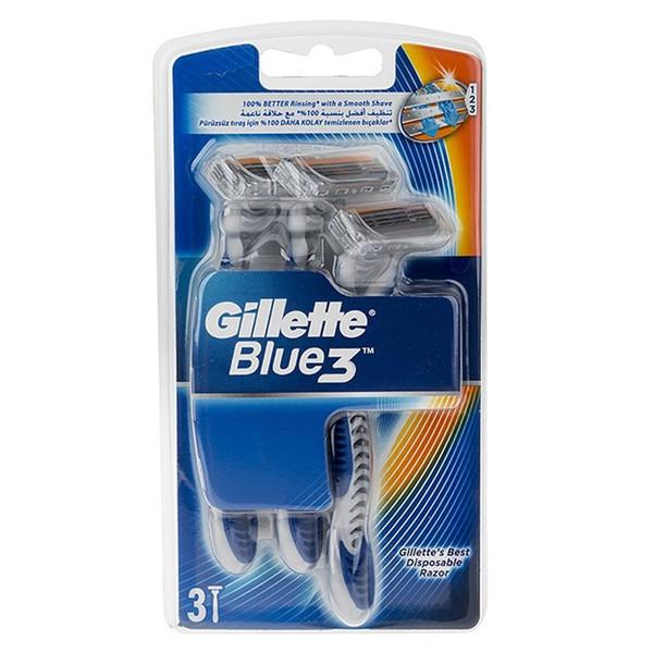 خود تراش ژیلت مدل Blue 3 بسته 3 عددی