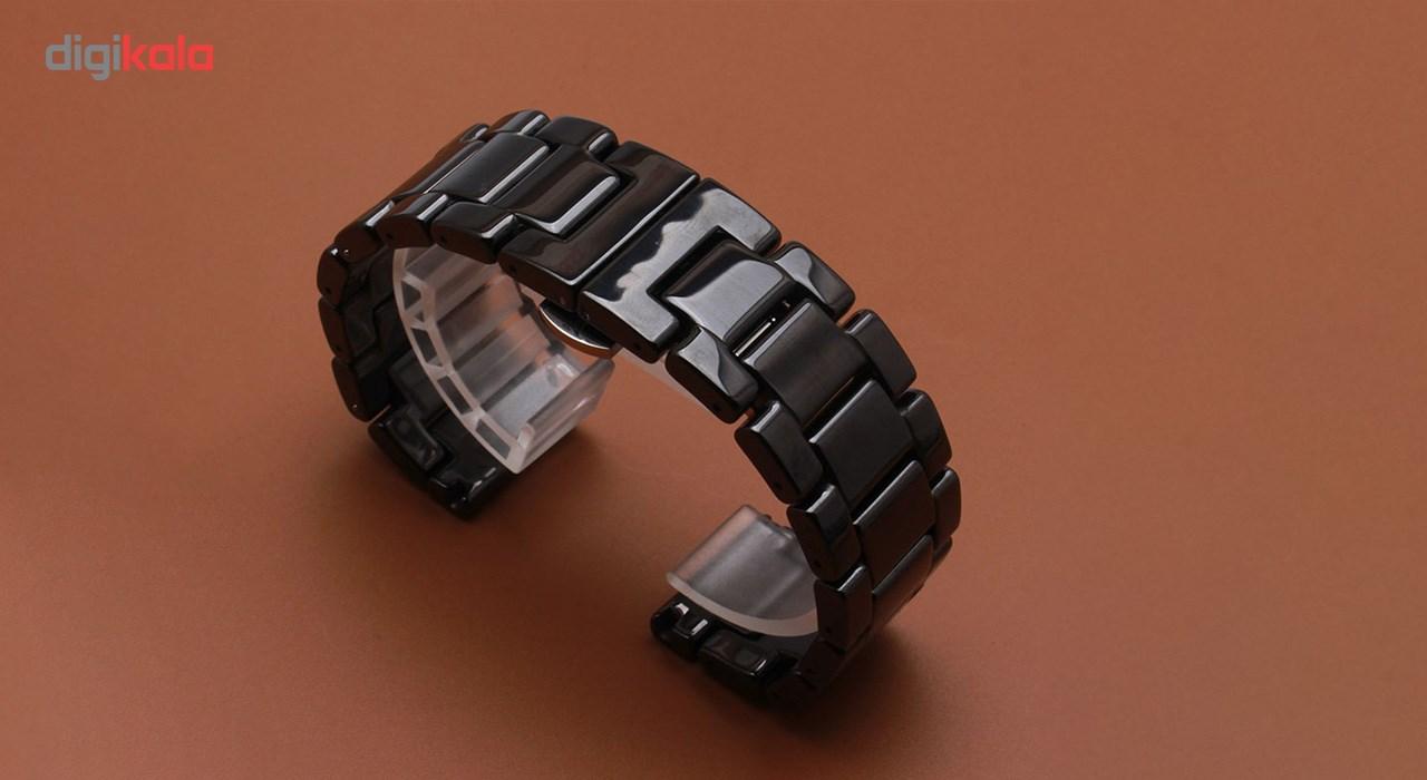 بند استیل ساعت هوشمند مدل Ceramics Band مناسب برای Gear S3