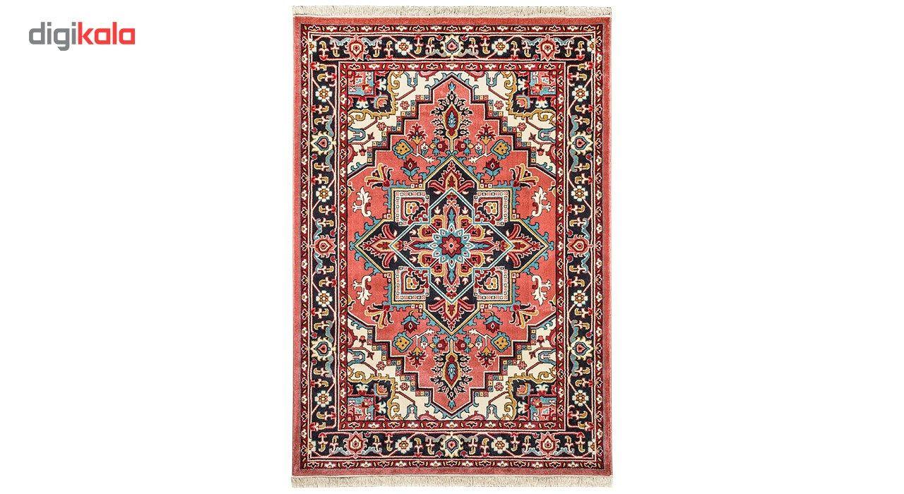 فرش ماشینی سهند کد B045.8J طرح هریس زمینه پیازی  Sahand Model Heris Mechine Made Carpet Code B045.
