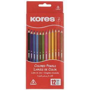 مداد رنگی 12 رنگ کورس