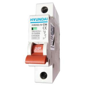 فیوز مینیاتوری تک فاز 16 آمپر هیوندای کد C16