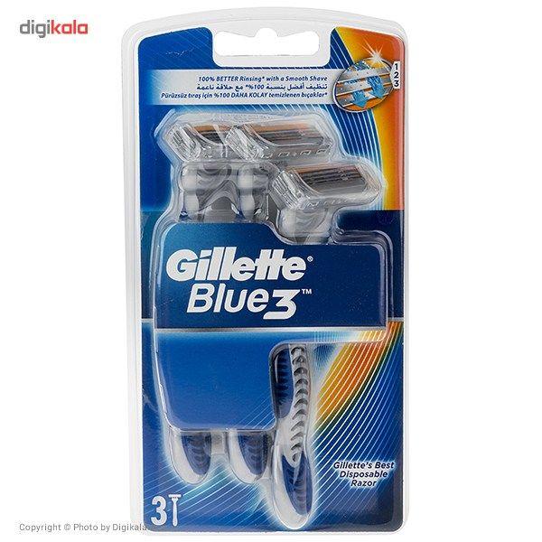 خود تراش ژیلت مدل Blue 3 بسته 3 عددی main 1 1