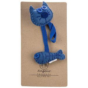 نشانگر کتاب Angelic طرح گربه و ماهی