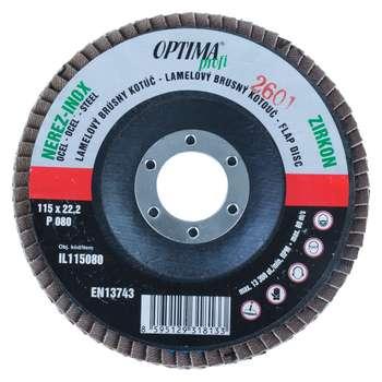 سنباده فلاپ دیسک 10 عددی اپتیما مدل IL115080/60 قطر 60 میلی متر
