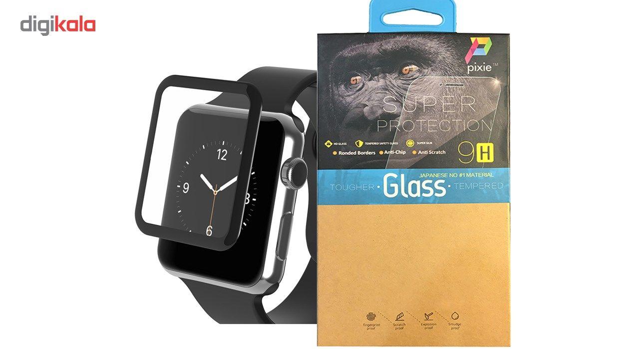 محافظ صفحه نمایش شیشه ای پیکسی  مدل 4D  مناسب اپل واچ سایز 42 میلی متر main 1 1