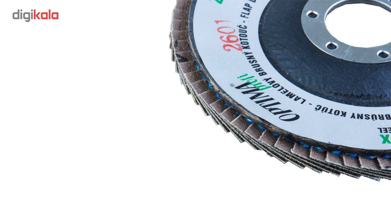 سنباده فلاپ دیسک 10 عددی اپتیما مدل IL115080/60 قطر 60 میلی متر main 1 4