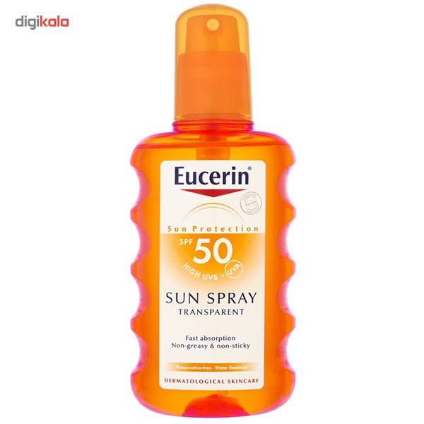 اسپری ضد آفتاب اوسرین Sun Protection SPF50 حجم 200 میلی لیتر  Eucerin Sun Protection Sunscreen Spr