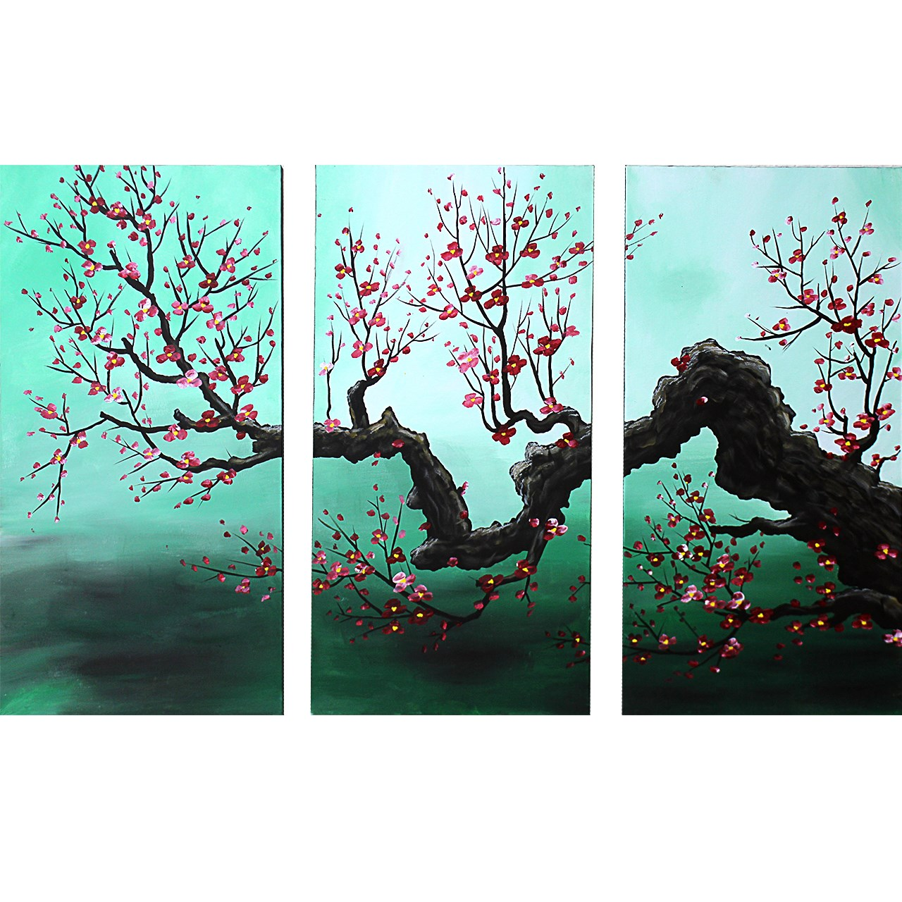 عکس تابلو نقاشی گالری دست نگار طرح سه تکه کد 106-07