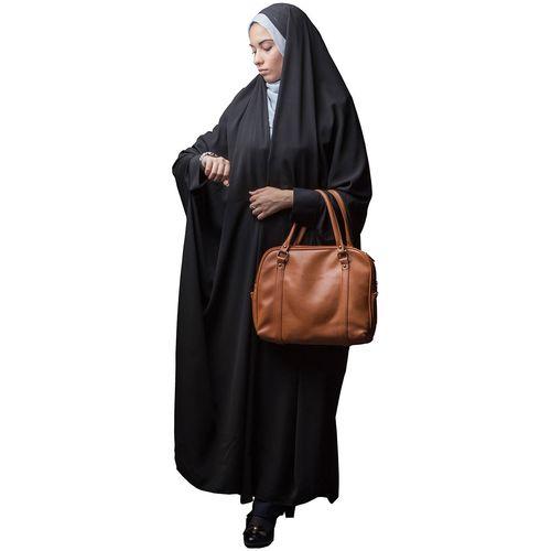 چادر دانشجوئی کن کن ابریشمی حجاب فاطمی مدل 201029kna