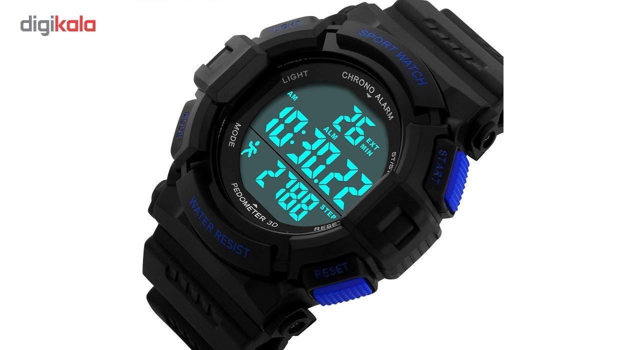 ساعت مچی دیجیتال اسکمی مدل 1116 آبی -  - 2