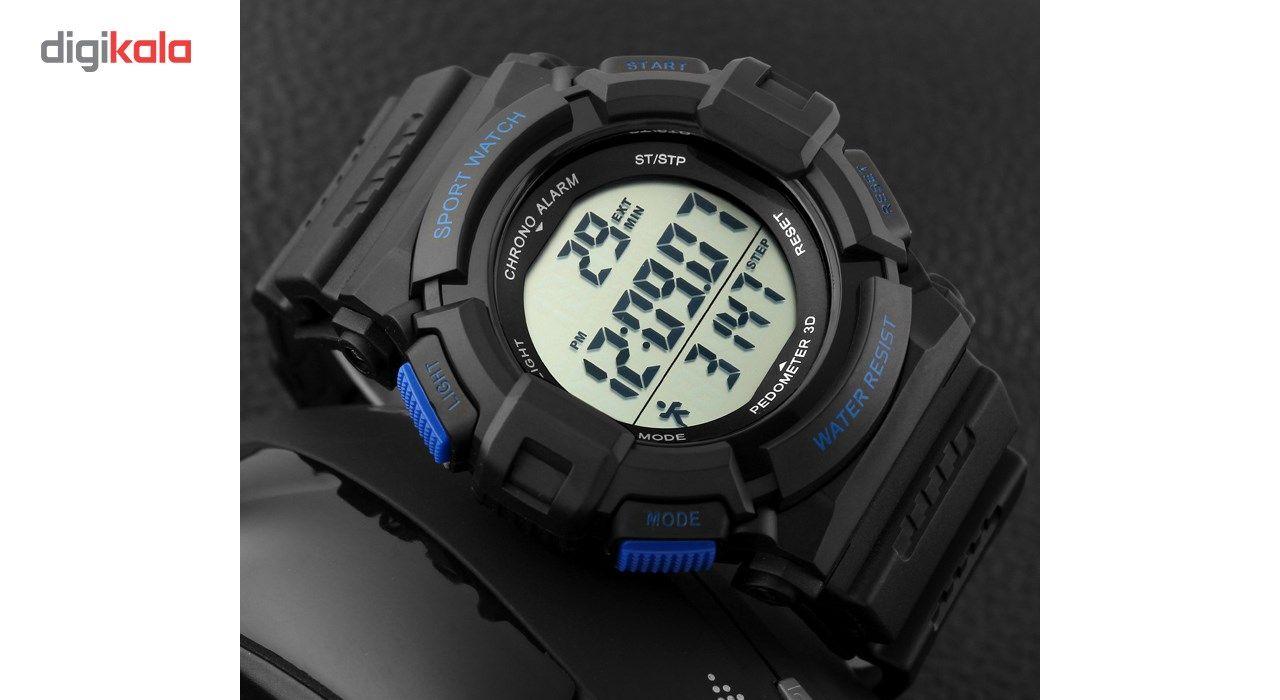 ساعت مچی دیجیتال اسکمی مدل 1116 آبی -  - 3
