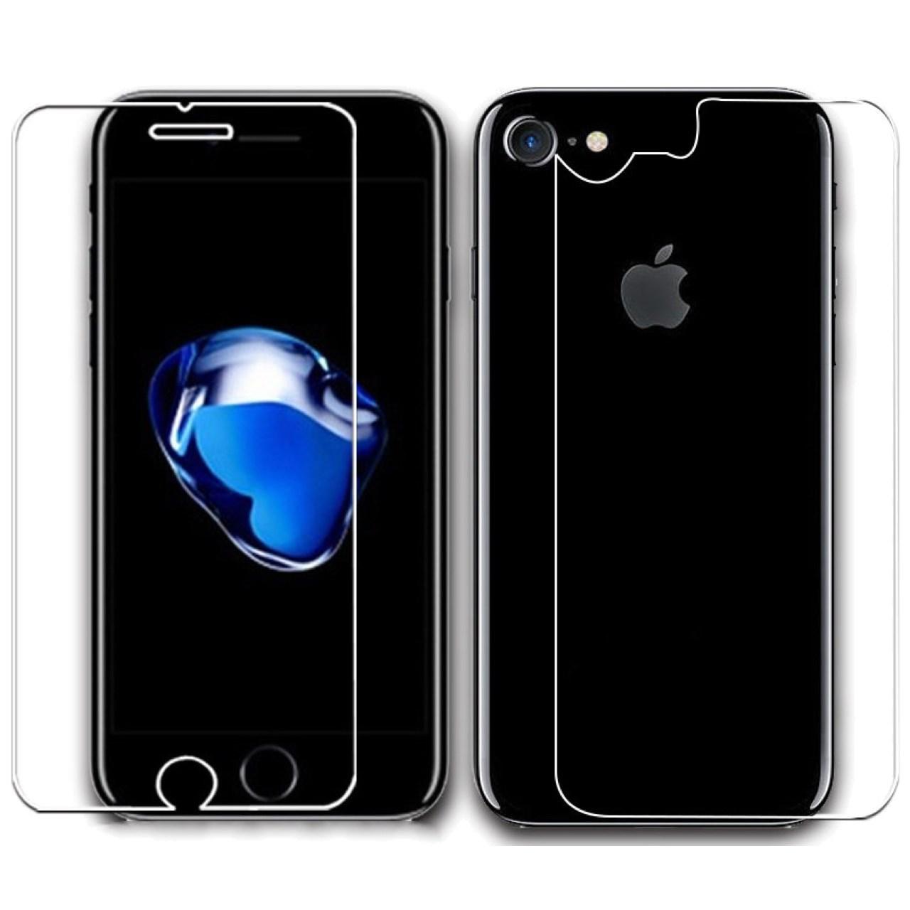 محافظ صفحه نمایش و پشت شیشه ای هوکار مدل Tempered مناسب برای گوشی موبایل اپل آیفون 7