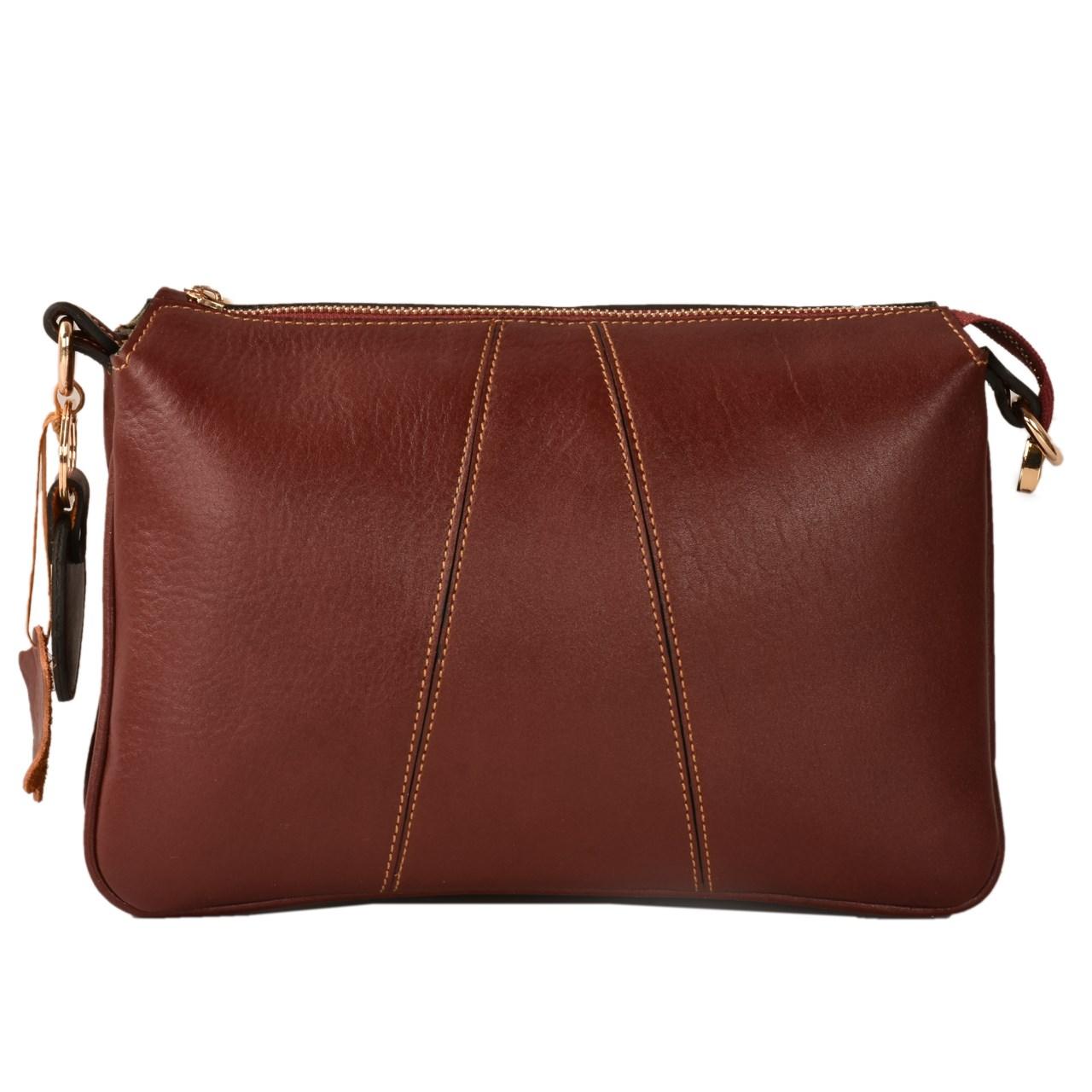 کیف رو دوشی چرم طبیعی کهن چرم مدل V155-12