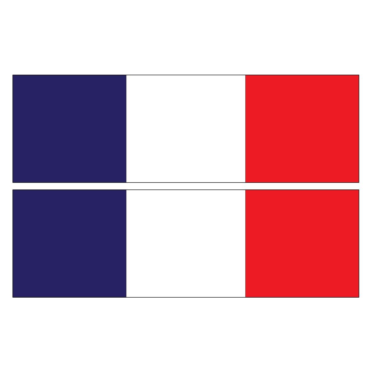 استیکر رکاب خودرو طرح پرچم فرانسه