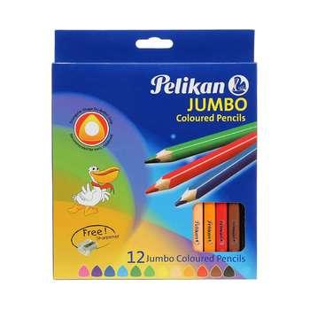 مداد رنگی 12 رنگ پلیکان آلمان مدل جامبو