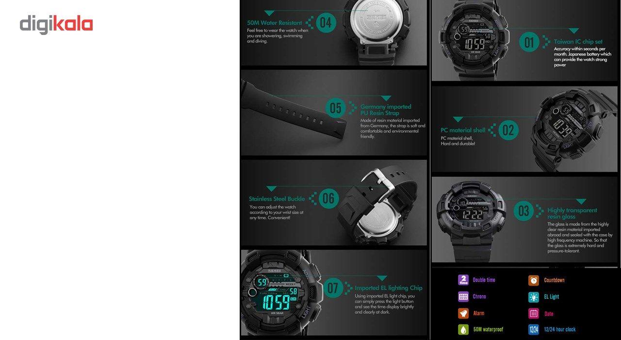 ساعت مچی دیجیتالی مردانه اسکمی مدل 1243 -  - 4