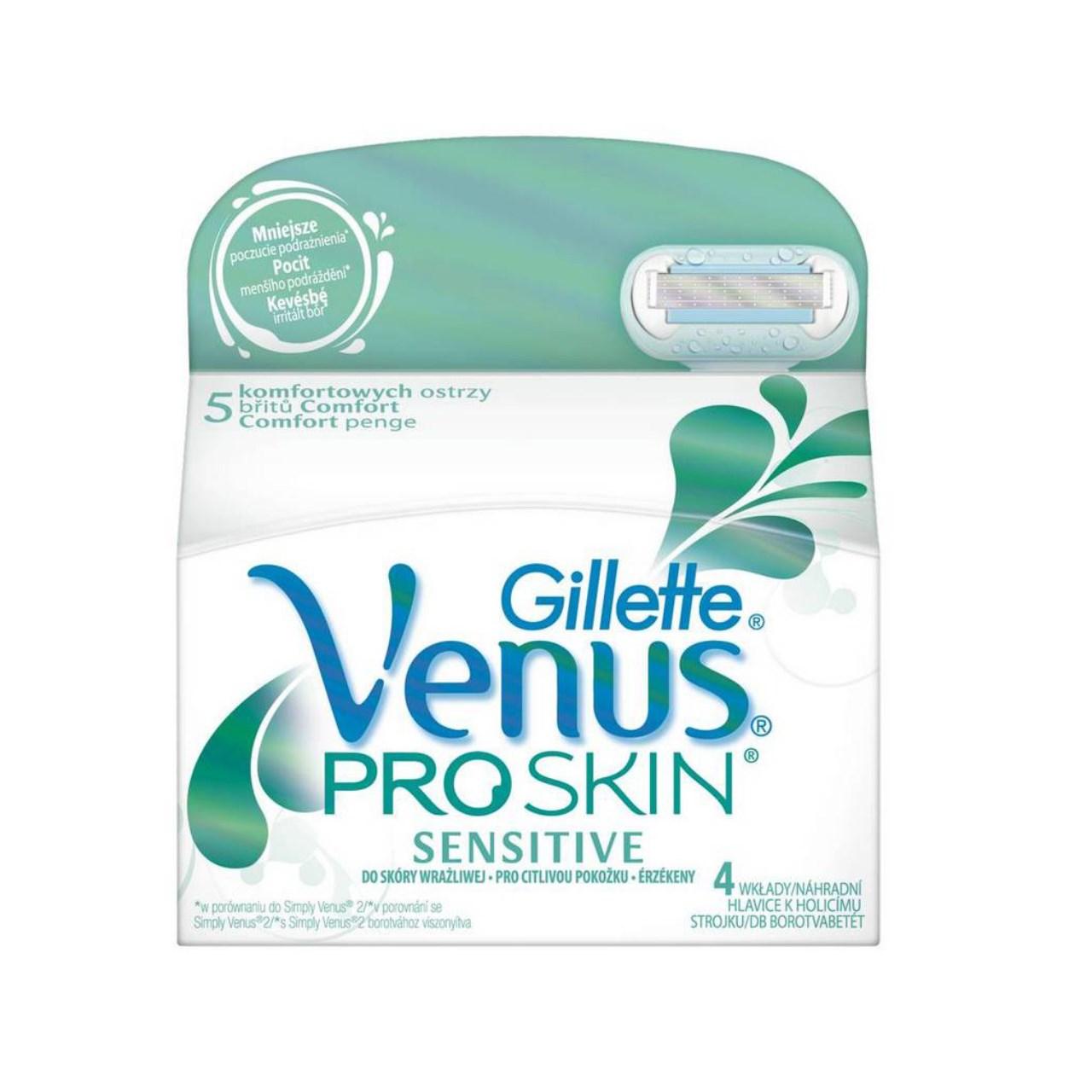 خرید                      تیغ یدک ژیلت مدل Venus proskin بسته 4 عددی              ✅