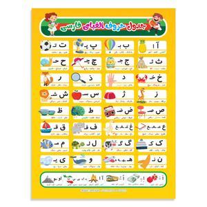 پوستر آموزشی پارسیسمن طرح حروف الفبای فارسی کد 936