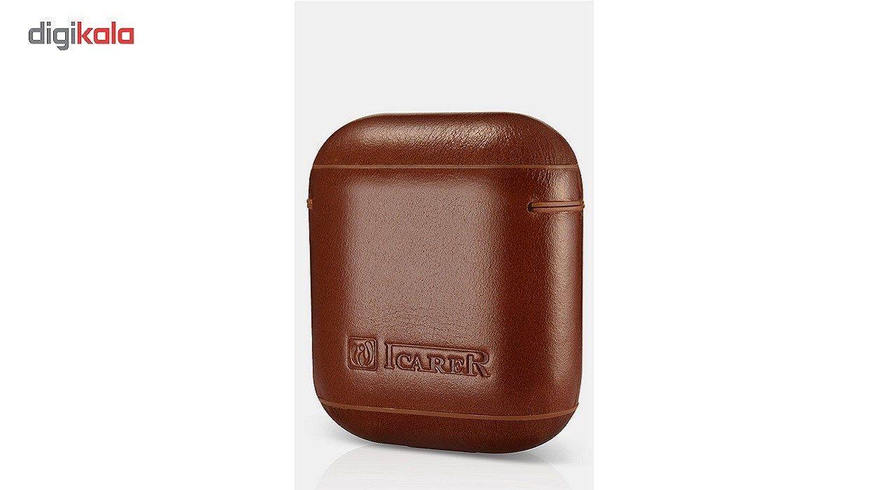 کاور محافظ چرمی ICARER مناسب برای کیس اپل Air Pods main 1 4