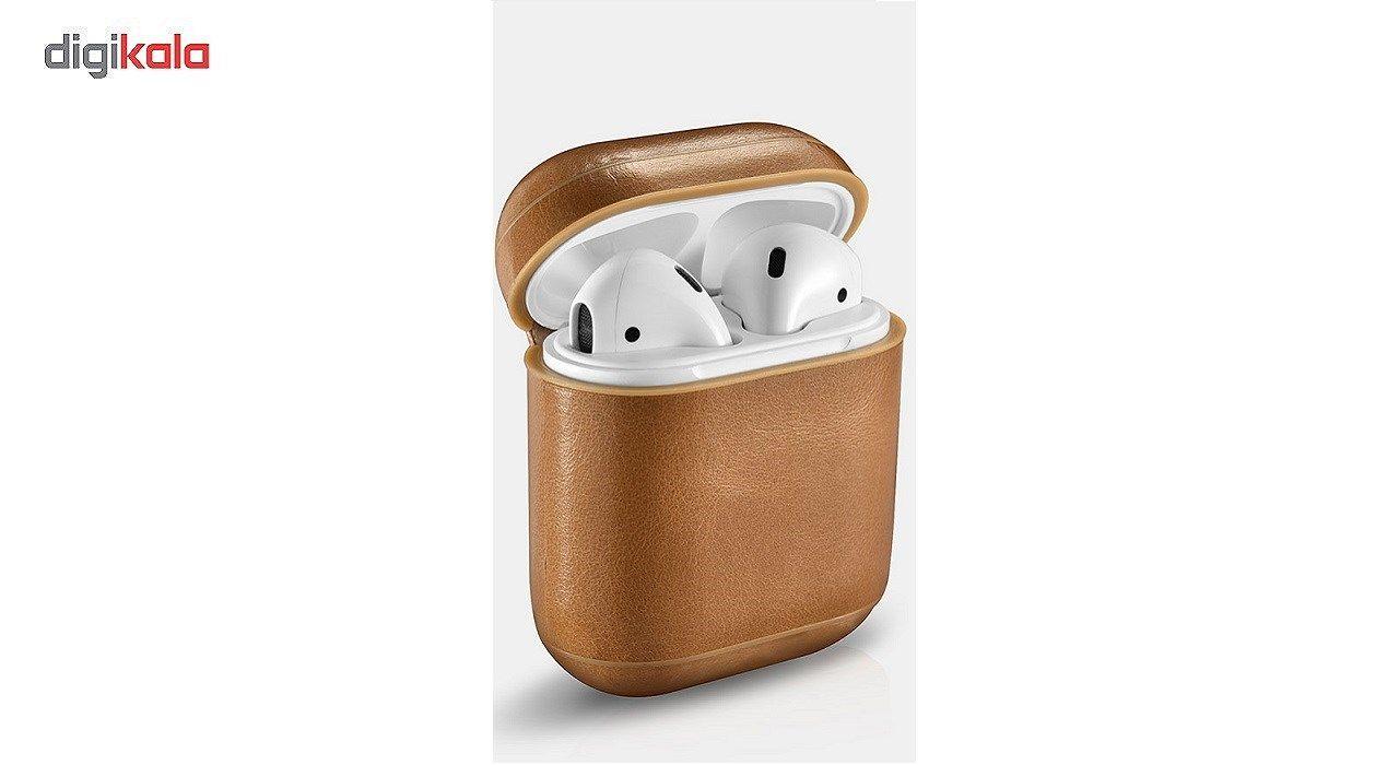 کاور محافظ چرمی ICARER مناسب برای کیس اپل Air Pods main 1 5
