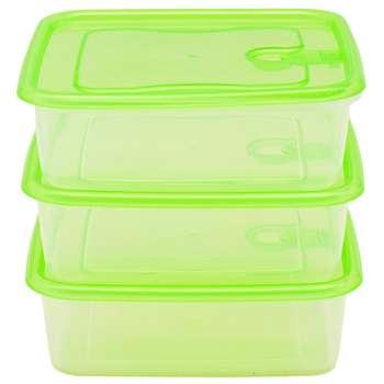 ست سه تکه ظرف نگهدارنده  فرش باکس مدل 650 سبز