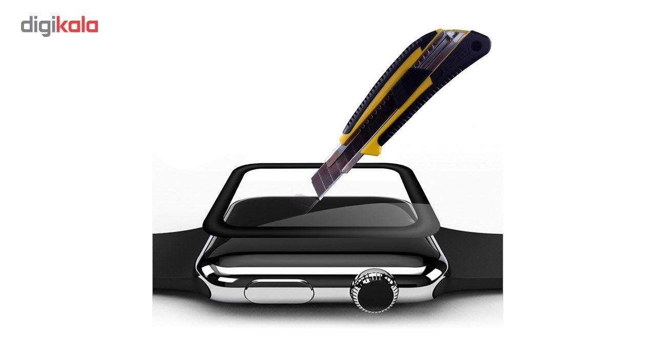 محافظ صفحه نمایش شیشه ای تمپرد مدل فول چسب مناسب اپل واچ سایز 42 میلی متر main 1 3