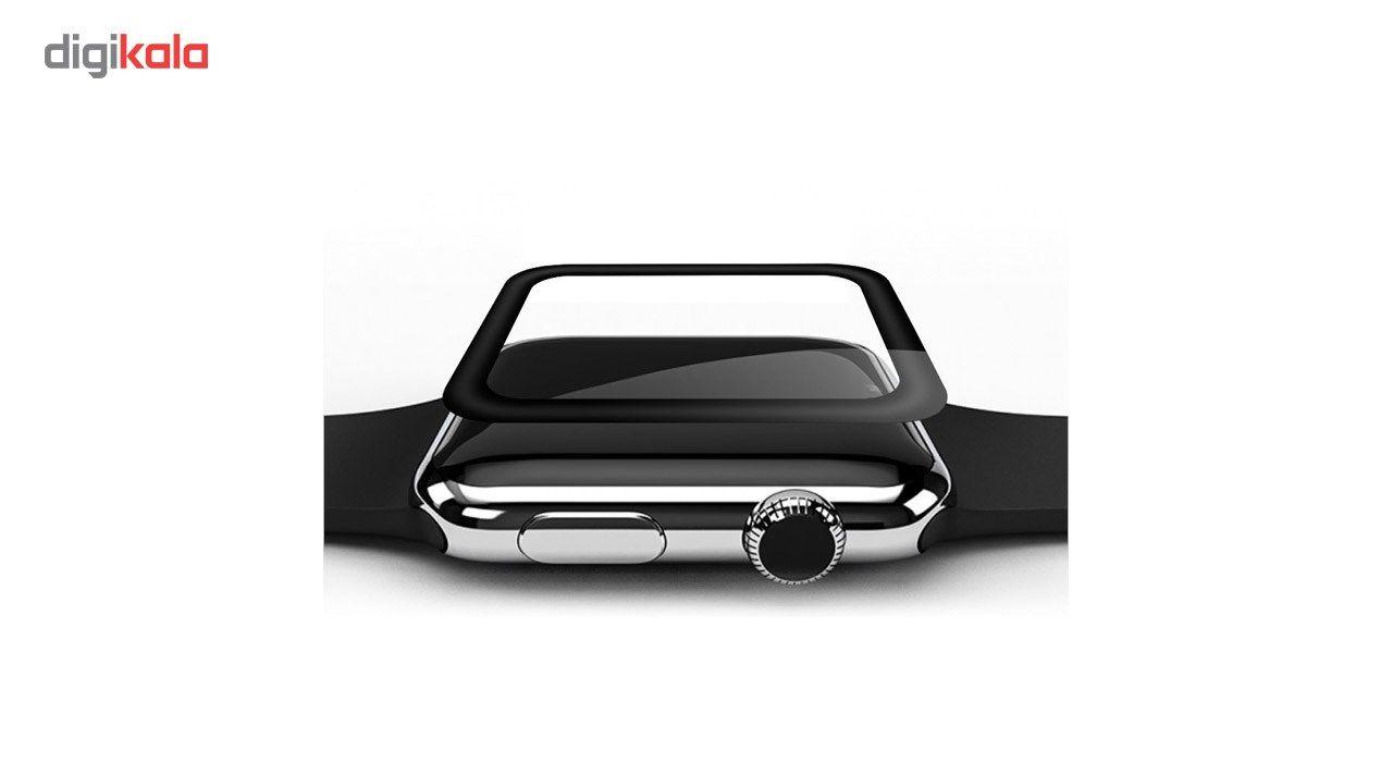 محافظ صفحه نمایش شیشه ای تمپرد مدل فول چسب مناسب اپل واچ سایز 42 میلی متر main 1 4