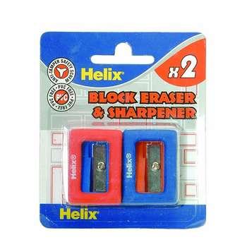 تراش و پاک کن هلیکس مدل Block - بسته 2 عددی