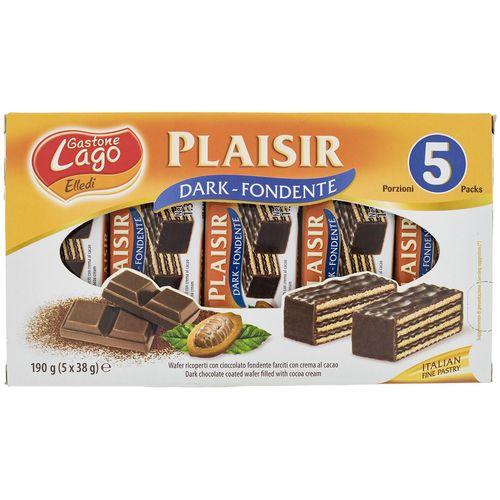 ویفر شکلات تلخ لاگو با کرم کاکائو مقدار 38 گرم بسته 5 عددی