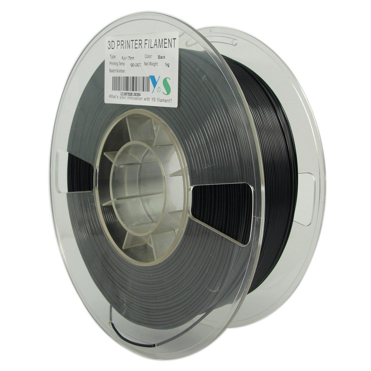 فیلامنت پرینتر سه بعدی PLA  یوسو  مشکی 1.75 میلیمتر  1 کیلو