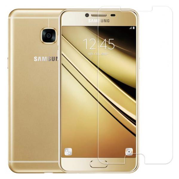 محافظ صفحه نمایش شیشه ای تمپرد مناسب برای گوشی موبایل سامسونگ Galaxy C7 Pro