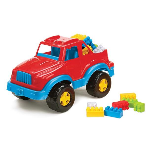 ماشین بازی و 37 بلوک ساختنی دولو  مدل Pick-Up With Blocks کد 5021