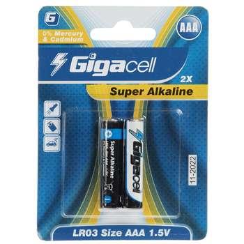 باتری نیم قلمی گیگاسل مدل Super Alkaline بسته 2 عددی