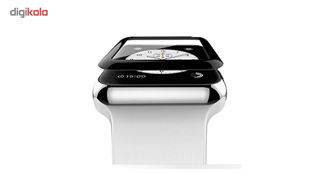 محافظ صفحه نمایش شیشه ای مدل Tempered Glass 3D مناسب اپل واچ سایز 38 میلی متر main 1 2