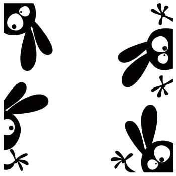 استیکر پدیده شاپ طرح خرگوش ها