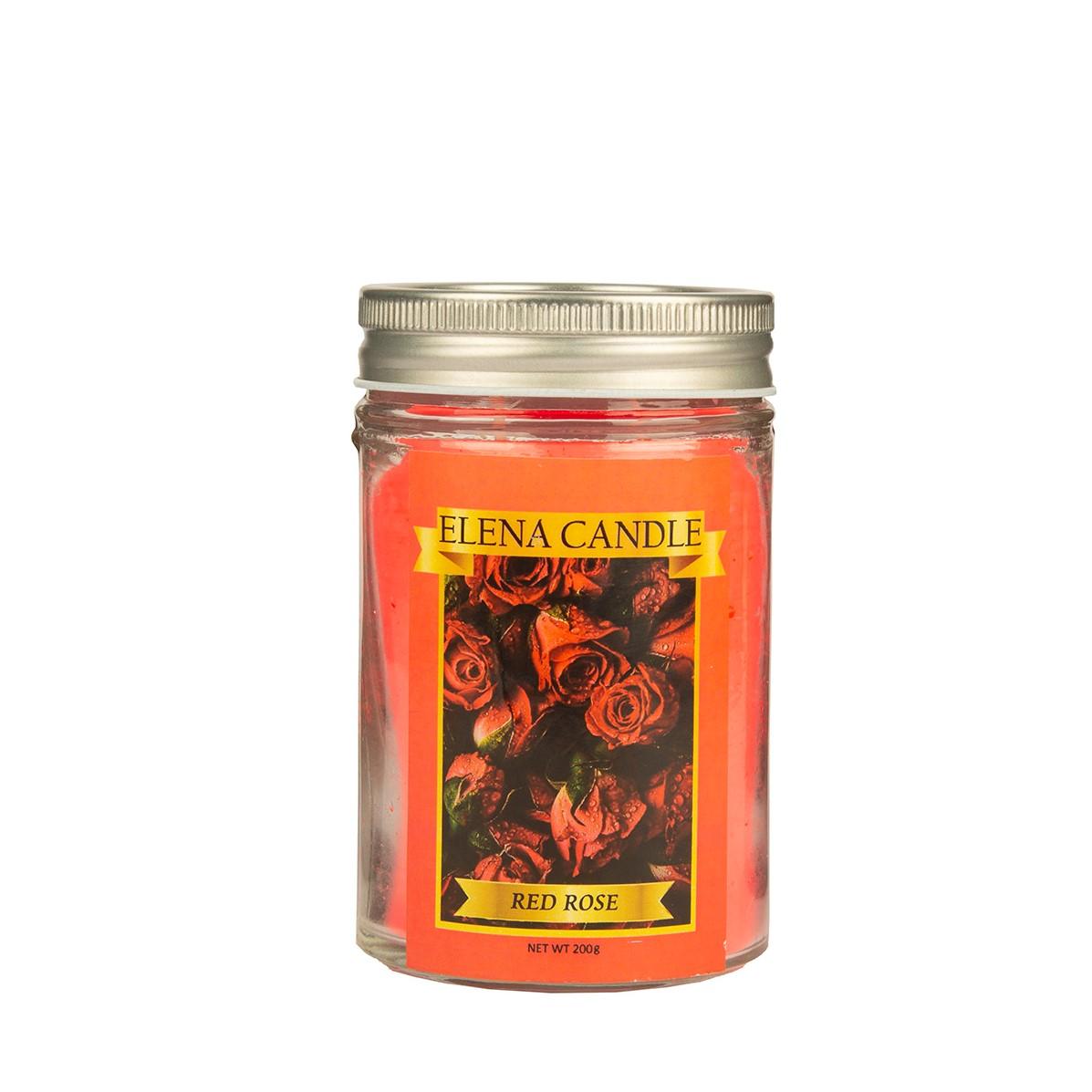شمع لیوانی النا کندل مدل رز قرمز کد 200