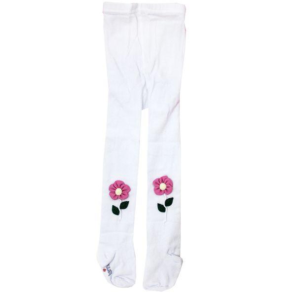 جوراب شلواری دخترانه مدل SHAAKE22 رنگ سفید