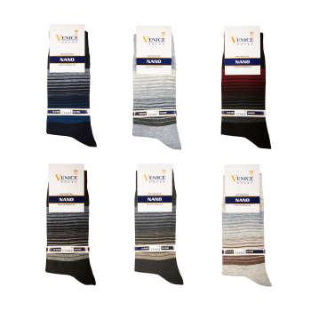 جوراب مردانه ونیز کد AL-V3 مجموعه 6 عددی