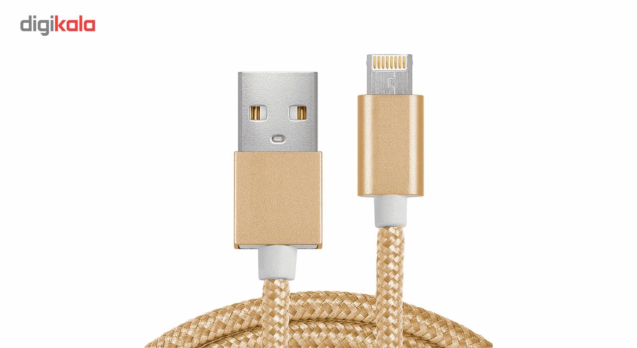 کابل تبدیل USB به Micro USB و Lighting مدل 2In1 به طول 1 متر main 1 1