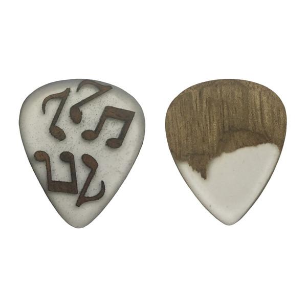 پیک چوبی اپکسی رزین و گردو ترکیبی5  گیتار چوپیک  بسته 2 عددی