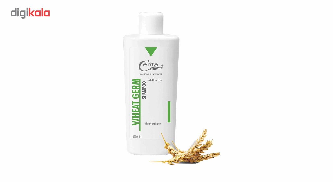 شامپو تقویت کننده و ضد ریزش جوانه گندم سریتا مدل Wheat Gream حجم 200  میلی لیتر