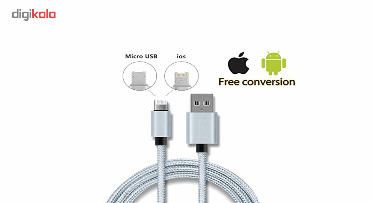 کابل تبدیل USB به Micro USB و Lighting مدل 2In1 به طول 1 متر main 1 4