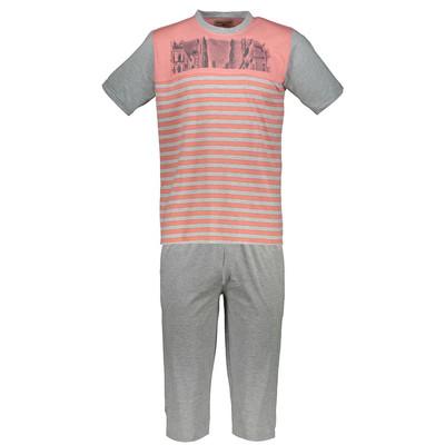 تصویر ست تی شرت و شلوارک مردانه  پی جامه مدل 3654