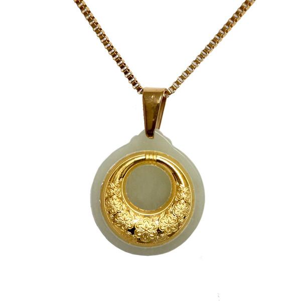 گردنبند طلا 24 عیار ماربلین طرح ماه بانو کد GJ2072