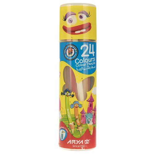 مداد رنگی 24 رنگ آریا مدل 3052