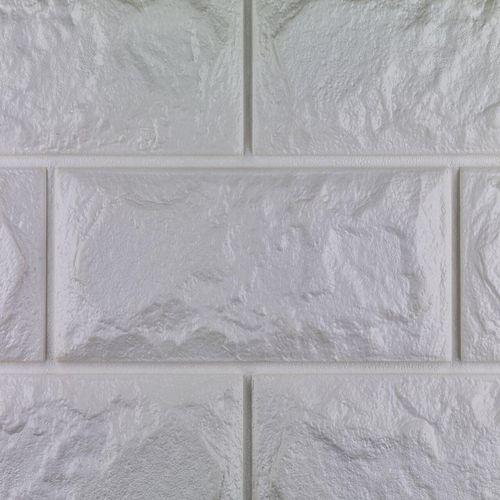 دیوارپوش فومی طرح آجر سفید کد FB اندازه 71x77